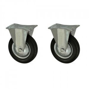 Set 2 roti carucior, unidirectionara , cu talpa de metal, rulment, 3, 75/25-50, YTGT-00059X2
