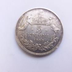 Ungaria 5 korona 1909-Stare f buna