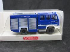 Macheta Wiking GKW Iveco Truck THW HO 1/87 foto