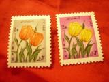 2 Timbre Iran 1968 - Flora, Nestampilat