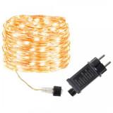 Instalatie luminoasa LED de Craciun, 200 led-uri, alb cald, 8 functii, 20m, 220V