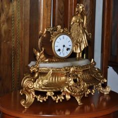Ceas de semineu cu pendula Japy Freres &Cie 1855