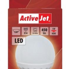 Bec LED SMD E14 5W glob lumina calda, ActiveJet