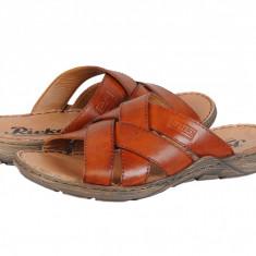 Sandale casual piele bărbați Rieker Papio maro 2209824