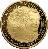 Moneda-Uncie AUR 31 GRAME,24K- 160 ani de la nasterea lui M EMINESCU
