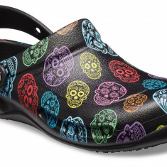 Saboți Adulti Unisex Lucru - Work Crocs Bistro Graphic Clog, Multicolor, 36.5, 38.5, 39.5, 41.5 - 43.5, 48.5