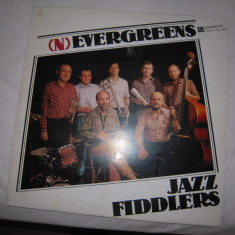 Disc vinil cu muzica jazz: Evergreens - Jazz Fiddlers (1987)