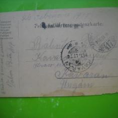 HOPCT 179 U  CARTE POSTALA PRIZONIERI DE RAZBOI-C DAICOVICIU CARAS SEVERIN 1917
