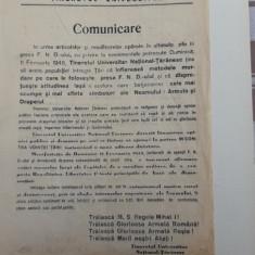 AFIS al PARTIDULUI NATIONAL TARANESC din februarie 1945