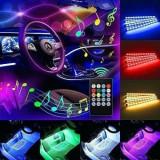 LED interior 7 culori 12smd RGB cu telecomanda 22cm