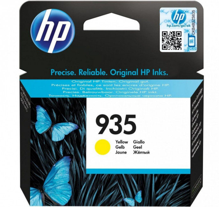 Cartus cerneala hp yellow nr.935 c2p22ae original hp officejet pro