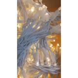 Instalatie de Craciun, 5 m, Perdea franj Alb Cald , FLASH, 104 leduri, SDX P9106WW, perdea luminoasa franjurata de exterior