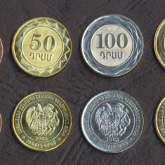 ARMENIA █ SET COMPLET DE MONEDE █ 10+20+50+100+200+500 Dram █ 2003-2004 █ UNC