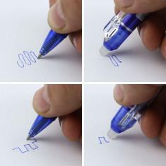 Pix cu radiera, cerneala termosensibila, 0.5 mm, albastru
