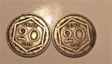 20 centesimi Vittorio Emanuele III-regno ITALIA -1918/1919 monede supraimprimate, Europa