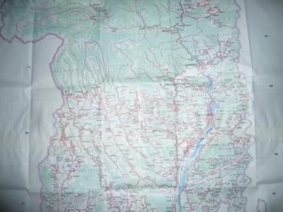 Harta mare a Judetului SIBIU 1979 ,dim.=131x120cm RSR Inst. Geodezie si Organi foto