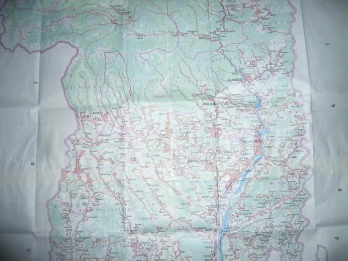 Harta mare a Judetului SIBIU 1979 ,dim.=131x120cm RSR Inst. Geodezie si Organi