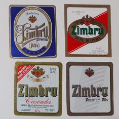 Eticheta Bere - Lot 4 Etichete Bere Zimbru Iasi