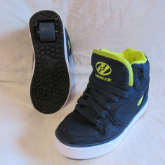 Adidasi / pantofi cu roti / role HEELYS originali, marime 32  (19 cm), Albastru