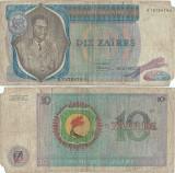 1972 ( 30 VI ) , 10 zaïres ( P-23a.1 ) - Zair