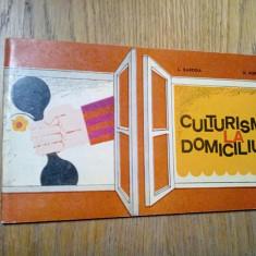 CULTURISM LA DOMICILIU - L. Baroga, N. Popa - Editura Stadion, 1973, 63 p., Alta editura