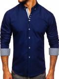 Cumpara ieftin Cămașă elegantă pentru bărbat cu mâneca lungă bluemarin Bolf 5796