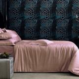 Lenjerie de pat dublu VALERON, King Size, Crocodile P.Pink(Roz Pudra), bumbac egiptean jacquard, 6 piese