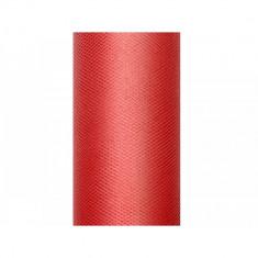 Tulle rosu 0,5 x 9m