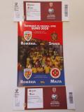 Program meci fotbal + bilete ROMANIA-SPANIA si ROMANIA-MALTA
