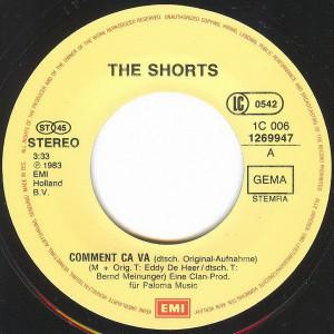 The Shorts - Comment Ca Va (1983, EMI) Disc vinil single 7