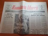 ziarul romania libera 27 ianuarie 1990