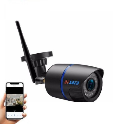 Camera de supraveghere BESDER 1MP Wifi 720P, CCTV wireless si fir ONVIF cu slot microSD (max 32GB) foto