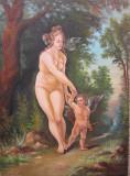 "Tablou / Pictura nud ""Afrodita & Cupidon"""