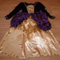 costum carnaval serbare rochie medievala regina pentru copii de 10-11-12 ani