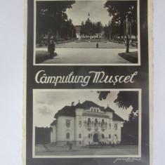 Campulung Muscel,carte postala(fotografie Agfa)1940,stampila tren C-lung/Golesti, Curtea de Arges, Circulata