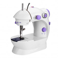 Masina de cusut Mini Sewing Machine SM-202A, LED, 4 baterii, pedala
