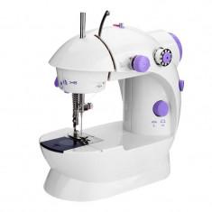 Masina de cusut Mini Sewing Machine SM-202A, LED, 4 baterii, pedala