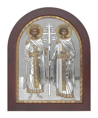 Icoana Argint Sfintii Imparati Constantin si Elena 19.8x24.7 cm Cod Produs 2730 foto