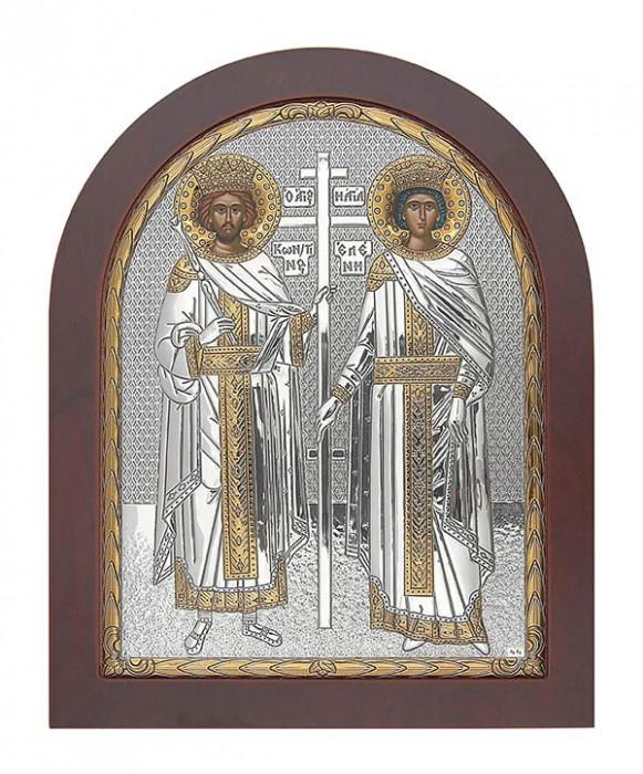 Icoana Argint Sfintii Imparati Constantin si Elena 19.8x24.7 cm Cod Produs 2730
