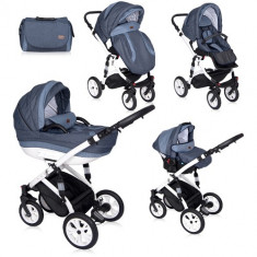 Carucior Set 3 in 1 Mia Light & Dark Blue