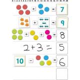 Set magnetic Primele notiuni de matematica Fiesta Crafts, 111 piese, 3 ani+