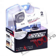 SET 2 BECURI AUTO H27 881 MTEC SUPER WHITE - XENON EFFECT