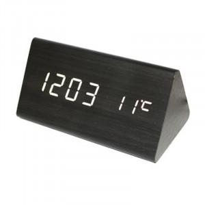 Ceas digital lemn VST-861, alarma, LED rosu