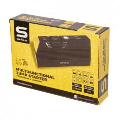 Starter auto multifunctional, incarcator notebook/tableta/telefon, functie lanterna, capacitate baterie: 12.000mAh, curent pornire: 300A