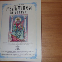 VASILE  MILITARU  -  PSALTIREA  IN  VERSURI   ( stare foarte buna) *