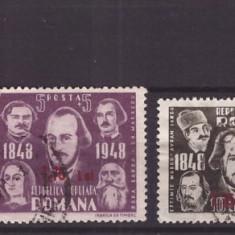 1952 - Centenarul revolutiei cu supratipar, serie uzata