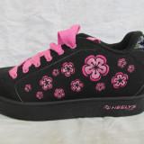 Adidasi / pantofi cu roti / role HEELYS originali, marime 39  (25 cm), Negru