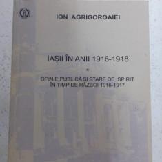 Ion Agrigoroaiei - Iasii in anii 1916-1918 cu dedicatie