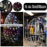 Iluminat Festiv Paste,Ou Gigant 2 m,3 D,decoratiuni primarii,SICAP