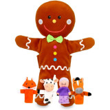 Set 6 Marionete Omul de turta dulce Fiesta Crafts, 3 ani+